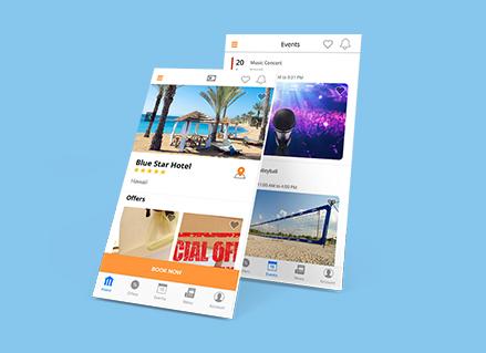 hotel mate ui app design