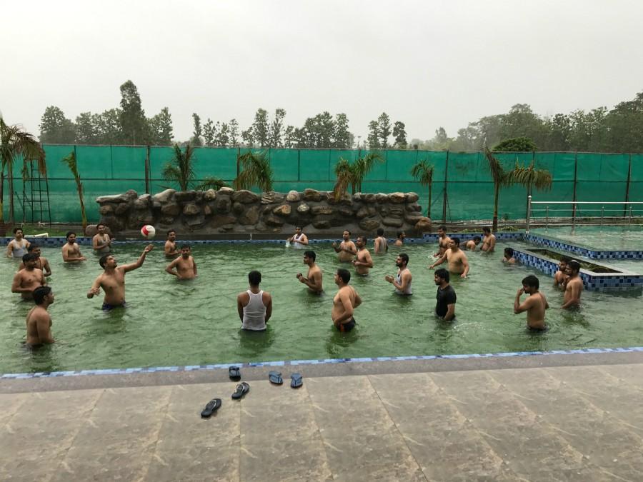 Boys Pool Party at resort