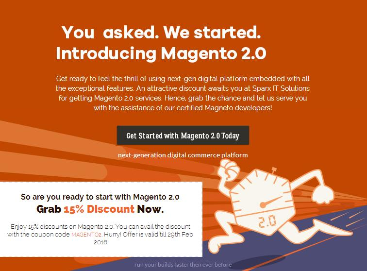 Discount Offer At Sparx IT Solutions On Magento 2 Services