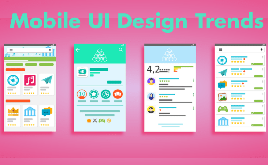 Latest mobile ui design trends and techniques to focus on 2018 - Mobel trends 2017 ...