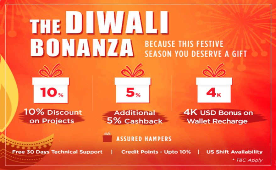 Diwali Festive Bonanza on Sparx IT Solutions