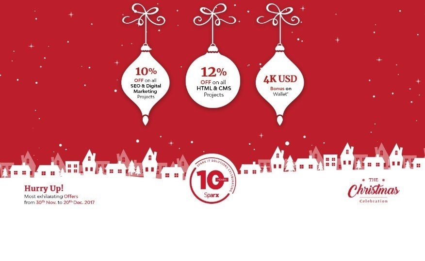 CHRISTMAS CELEBRATION and Offer on Sparx IT Solutions