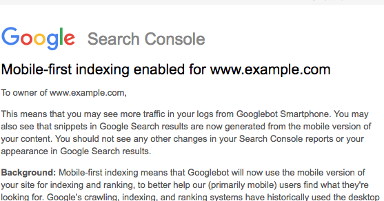 indexing notifications to Google search console