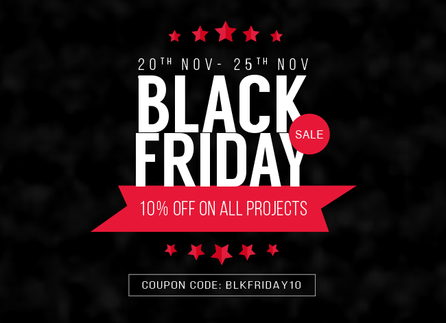 Secure Great 10% Off On All Projects This Black Friday