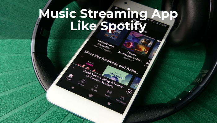 music streaming mobile app development