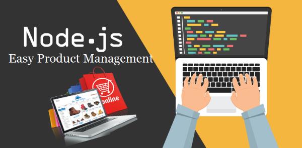nodejs easy product management