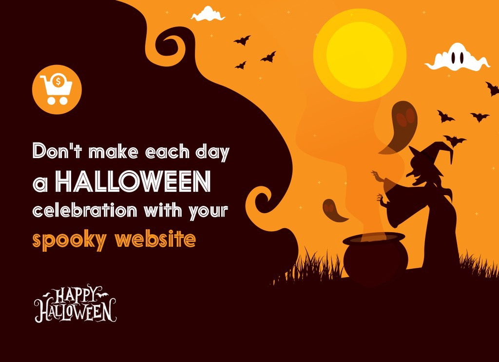 Halloween with a flawless website design