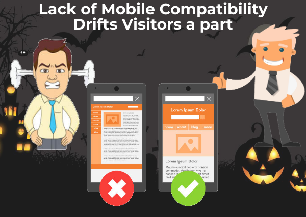 lack of mobile compatibility