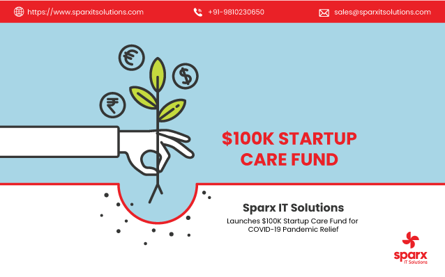 Sparx IT Solutions Launches Startup Care Fund Worth $100k to Overcome COVID-19: The Pandemic