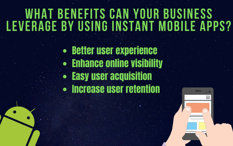 What benefits can your business leverage by using instant mobile apps